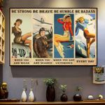 Beautiful And Confident Girls Be Strong When You Are Weak Horizontal Poster - Vintage Retro Art Picture Home Wall Decor No Frame Full Size