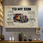 To My Son Never Forget Your Way Back Home Horizontal Poster - Vintage Retro Art Picture Home Wall Decor No Frame Full Size