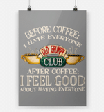 Gifts For Coffeeholic Before Coffee I Hate Everyone After Coffee I Feel Good Vertical Poster - Print Perfect, Ideas On Xmas, Birthday, Home Decor, No Frame Full Size