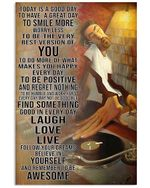 Today Is Good Day To Have Great Day Playing Music Poster Vintage Retro Art Picture Home Wall Decor No Frame Full Size
