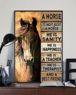 Horse Lover A Horse Is Happiness And A Best Friend Poster Vintage Retro Art Picture Home Wall Decor No Frame Full Size