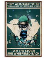 Nurse I Am The Storm She Wishpered Back Poster Vintage Retro Art Picture Home Wall Decor No Frame Full Size