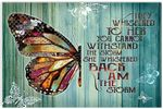 They Whispered to her I am The Storm Butterfly Horizontal Poster Vintage Art Picture No Frame Xmas Birthday for Men Women