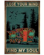 Colorful Camping Car Vertical Poster - Print Perfect, Ideas On Xmas, Birthday, Home Decor, No Frame Full Size