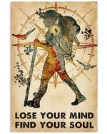 Adventurer Galaxy Compass Lose Your Mind Find Your Soul Vertical Poster - Print Perfect, Ideas On Xmas, Birthday, Home Decor, No Frame Full Size