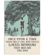 There Was A Girl Who Really Loved Running Vertical Poster - Print Perfect, Ideas On Xmas, Birthday, Home Decor, No Frame Full Size