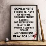 Baseball Somewhere Behind The Ballplayer Poster Print Perfect, Ideas On Xmas, Birthday, Home Decor,No Frame Full Size