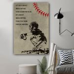 Baseball It's Not About Being Better Than Someone Else Vertical Poster - Print Perfect, Ideas On Xmas, Birthday, Home Decor, No Frame Full Size