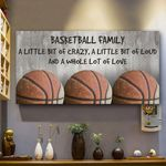Basketball Family A Little Bit Of Crazy Horizontal Poster - Vintage Retro Art Picture Home Wall Decor No Frame Full Size