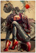 Biker Girl I Am Poster Art Picture Home Wall Decor Vertical No Frame Full Size