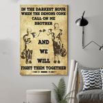 Rugby Call On Me Brother Vertical Poster - Print Perfect, Ideas On Xmas, Birthday, Home Decor, No Frame Full Size