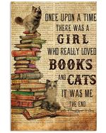 Books Cats Once Upon A Time Ragdoll Vertical Poster Poster Print Perfect, Ideas On Xmas, Birthday, Home Decor,No Frame Full Size