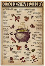 Kitchen Witchery Poster, Witches Poster, Witches Magic Knowledge, Magic Lover Gift Art Picture Home Wall Decor Vertical No Frame Full Size