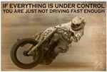 If Everything is Under Control Poster, Funny Racing Biker Racer Horizontal Poster No Frame Full Size