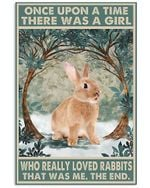 There Was A Girl Who Really Loved Rabbits Spread Inspiration Poster - Gift For Home Decor Wall Art Print Vertical Poster No Frame Full Size