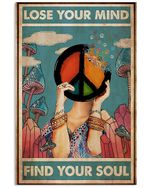 Hippie Lose Your Mind Find Your Soul Spread Inspiration Poster - Gift For Home Decor Wall Art Print Vertical Poster No Frame Full Size