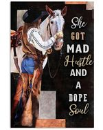 Country Girl She God Mad Hustle And A Dope Soul Spread Inspiration Poster - Gift For Home Decor Wall Art Print Vertical Poster No Frame Full Size