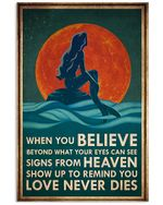 Mermaid When You Believe Beyond What Your Eyes Can See Spread Inspiration Poster - Gift For Home Decor Wall Art Print Vertical Poster No Frame Full Size