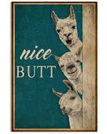 Alpaca Nice Butt Poster - Gift For Home Decor Wall Art Print Vertical Poster No Frame Full Size