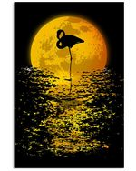 Flamingo Moon Poster - Gift For Home Decor Wall Art Print Vertical Poster No Frame Full Size