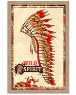 Native American Headdress Wild Spirit Poster - Gift For Home Decor Wall Art Print Vertical Poster No Frame Full Size