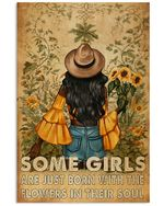 Sunflower Black Girls Some Girls Are Just Born With The Flower In Their Soul Spread Inspiration Poster - Gift For Home Decor Wall Art Print Vertical Poster No Frame Full Size