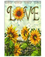 Love Sunflower Spread Inspiration Poster - Gift For Home Decor Wall Art Print Vertical Poster No Frame Full Size