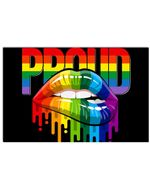 LGBT Proud Sexy Lips Horizontal Poster Gift For Men, Women, On Birthday, Xmas, Home Decor Wall Art Print No Frame Full Size
