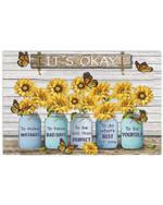 Sunflower It's Okay To Make Mistakes Horizontal Poster Gift For Men, Women, On Birthday, Xmas, Home Decor Wall Art Print No Frame Full Size