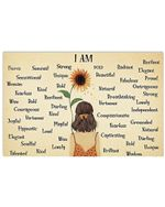 Sunflower I Am A Little Girl Horizontal Poster Gift For Men, Women, On Birthday, Xmas, Home Decor Wall Art Print No Frame Full Size