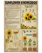 Sunflower Knowledge Poster Vintage Retro Art Picture Home Wall Decor No Frame Full Size
