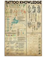 Tattoo Knowledge Poster Print Perfect, Ideas On Xmas, Birthday, Home Decor,No Frame Full Size