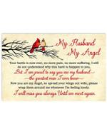 My Husband My Angel Cardinal Bird Horizontal Poster Perfect Gift For Husband In Heaven Art Print No Frame Full Size