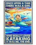 Kayaking A Girl Who Really Loved Kayaking Vertical Poster Perfect Gift For Men, Women, On Birthday, Xmas, Home Decor Wall Art Print No Frame Full Size