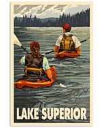 Kayaking Lake Superior Vertical Poster Perfect Gift For Men, Women, On Birthday, Xmas, Home Decor Wall Art Print No Frame Full Size