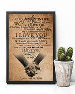 Lgbt To My Partner In Life - Love, Your Boyfriend Vertical Poster Perfect Gift For Men, Women, On Birthday, Xmas, Home Decor Wall Art Print No Frame Full Size