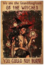 We are Granddaughters of Witch You Could Not Burn Proud Quote Sexy Girl Dark Forest Vintage Retro Art Picture Home Wall Decor Vertical No Frame Poster