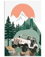 Jeep Art Vertical Poster Gift For Men, Women, On Birthday, Xmas, Home Decor Wall Art Print No Frame Full Size