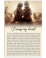 I Cross My Heart Vertical Poster Gift For Men, Women, On Birthday, Xmas, Home Decor Wall Art Print No Frame Full Size