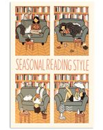 Librarian Seasonal Reading Style Poster Print Perfect, Ideas On Xmas, Birthday, Home Decor,No Frame Full Size