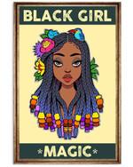 Black Girl Magic - Black Art Vertical Poster Vintage Retro Art Picture Home Wall Decor No Frame Full Size