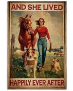 Country Girl And She Lived Happily Ever After Poster Vertical Poster Vintage Retro Art Picture Home Wall Decor No Frame Full Size