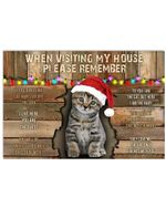Tabby Cat When Visiting My House Poster Home Wall Decor Gifts For Christmas, Birthday, Thanksgiving