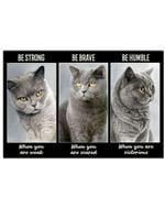British Shorthair Be Strong Poster Home Wall Decor Gifts For Christmas, Birthday, Thanksgiving