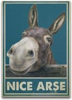 Nice Arse Funny Donkey Toilet Bathroom Artwork Wall Home Decor Vertical No-Frame Poster Housewarming Birthday Friend Family Gifts