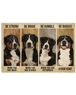 Mountain Dog Be Strong When You Are Weak Horizontal Poster Gift For Men, Women, On Birthday, Xmas, Home Decor Wall Art Print No Frame Full Size
