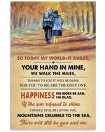 Old Couple Your Hand In Mine We Walk The Miles Vertical Poster Gift For Men, Women, On Birthday, Xmas, Home Decor Wall Art Print No Frame Full Size