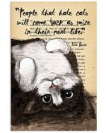 People That Hate Cats Vertical Poster Home Decor Gifts For Christmas, Birthday, Thanksgiving