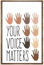 Social Worker Your Voice Matters Vertical Poster No Frame - Hands Colors Art Printed Quotes wallart Poster for Birthday Christmas, X-mas, Haloween