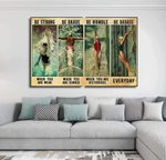 Swimming Strong When You Are Weak Be Brave Be Humble Be Badass Everyday Wall Art Decor No Frame Poster (Full size 12x18/16x24/24x36) | Gifts for Birthday, Anniversary, New Year, Christmas Gifts